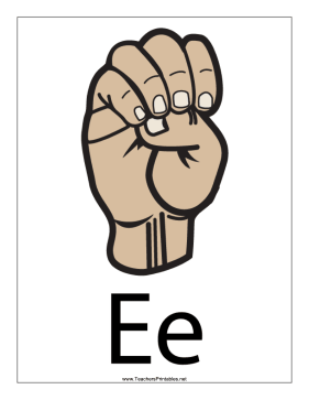 Letter E-Filled-With Label Teachers Printable