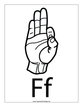 Letter F-Outline-With Label Teachers Printable