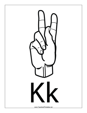 Letter K-Outline-With Label Teachers Printable