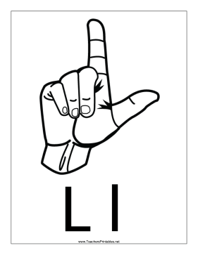 Letter L-Outline-With Label Teachers Printable