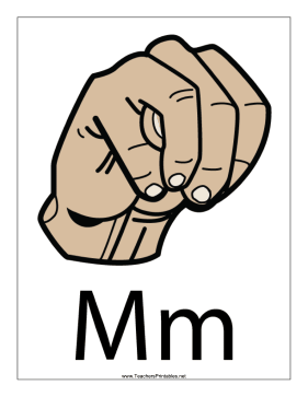 Letter M-Filled-With Label Teachers Printable