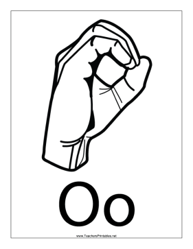 Letter O-Outline-With Label Teachers Printable