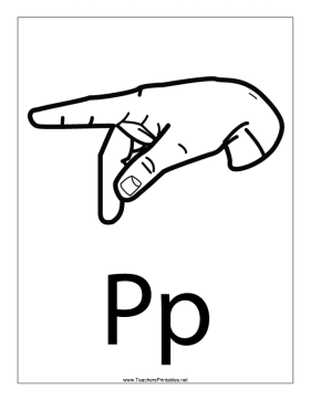 Letter P-Outline-With Label Teachers Printable