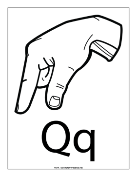 Letter Q-Outline-With Label Teachers Printable