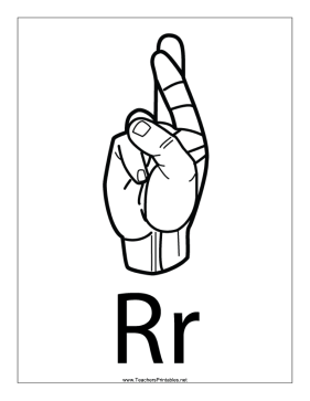 Letter R-Outline-With Label Teachers Printable