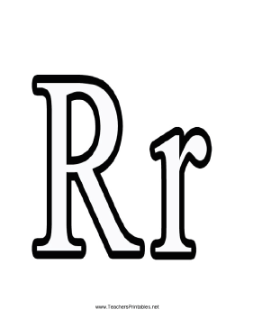 Letter R Teachers Printable