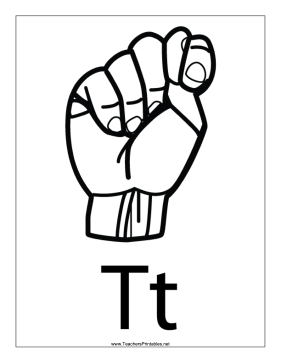 Letter T-Outline-With Label Teachers Printable