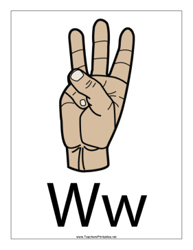 Letter W-Filled-With Label Teachers Printable