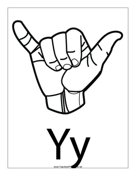 Letter Y-Outline-With Label Teachers Printable