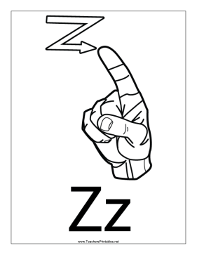 Letter Z-Outline-With Label Teachers Printable