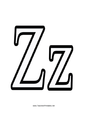 Letter Z Teachers Printable