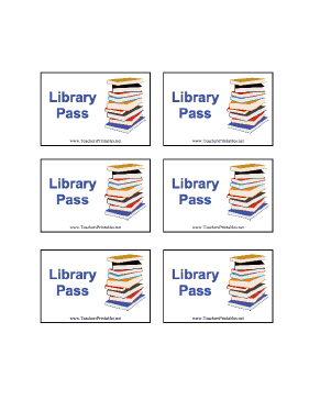 Library Pass Teachers Printable