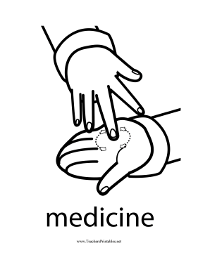 Medicine Sign Teachers Printable