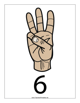 Number 6-Filled-With Label Teachers Printable