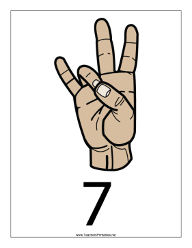 Number 7-Filled-With Label Teachers Printable