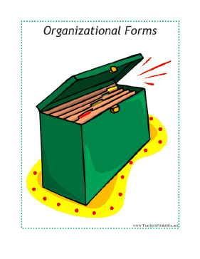 Organizational Forms Sub Tub Divider Teachers Printable