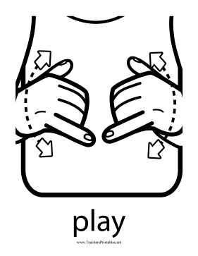 Play Sign Teachers Printable