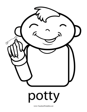 Potty Sign Teachers Printable