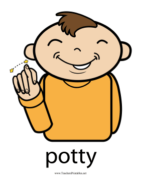 Potty Sign Color Teachers Printable