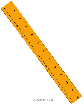 Ruler with Centimeters Teachers Printable