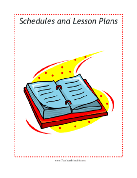 Schedules Sub Tub Divider Teachers Printable