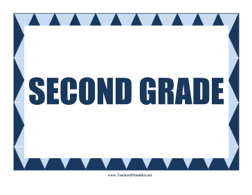 Second Grade Sign Teachers Printable