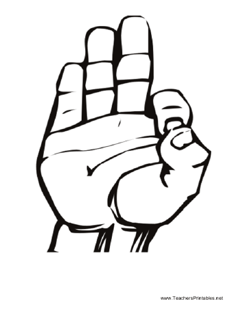 Sign Language F Teachers Printable