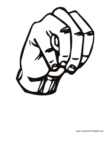 Sign Language M Teachers Printable