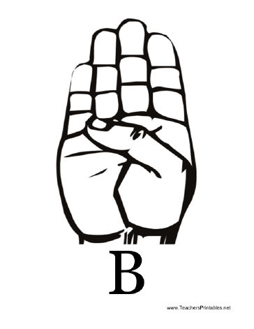 Sign Language with B Teachers Printable