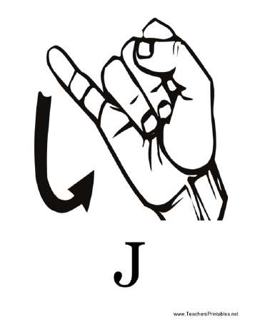 Sign Language with J Teachers Printable