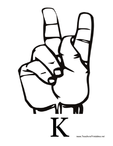 Sign Language with K Teachers Printable