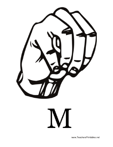 Sign Language with M Teachers Printable