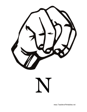 Sign Language with N Teachers Printable
