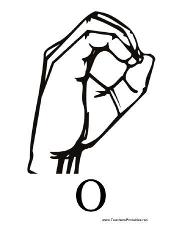 Sign Language with O Teachers Printable
