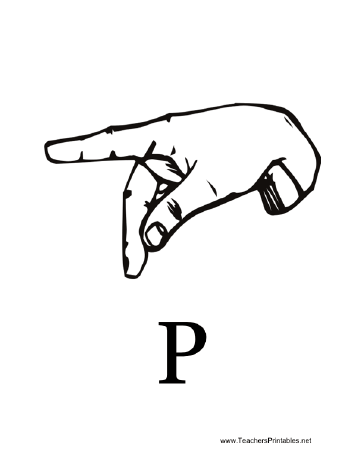 Sign Language with P Teachers Printable