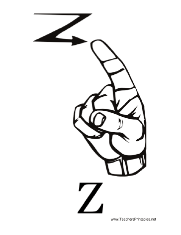 Sign Language with Z Teachers Printable