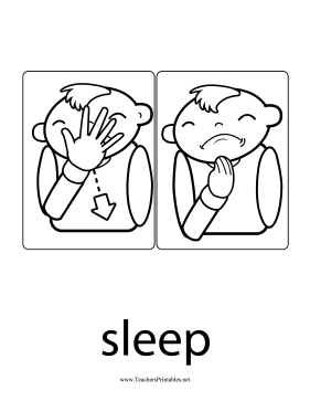 Sleep Sign Teachers Printable