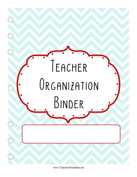 Teacher Organization Binder Teachers Printable