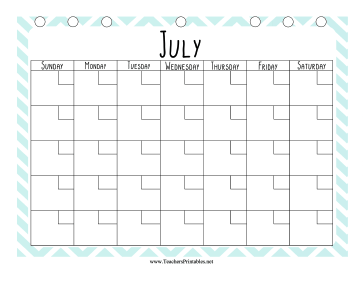 Teacher Organization Binder Calendar July Teachers Printable