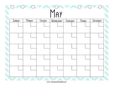 Teacher Organization Binder Calendar May Teachers Printable