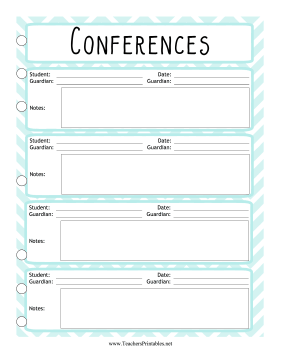 Teacher Organization Binder Conference Log Teachers Printable