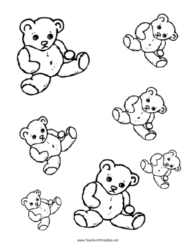 Teddy Bear Templates Teachers Printable