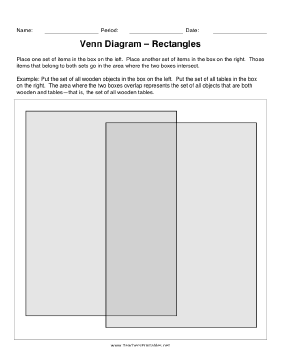 Venn Diagram Rectangles Teachers Printable