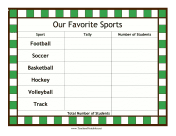 Favorite Sports Tally