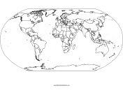 Blackline Map of the World