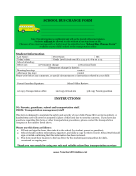 School Bus Change Form