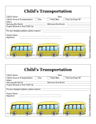 School Transportation Form