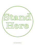 Stand Here Circle Green