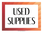 Used Supplies Label