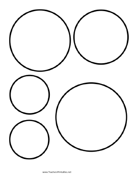 graphic regarding Circles Printable titled Circle Templates